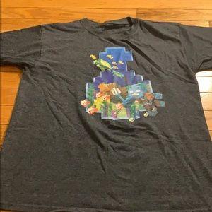 Mojang Minecraft Shirt Youth Large